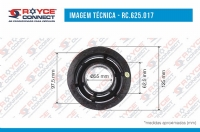 POLIA DO COMPRESSOR SANDEN 7H15/709  CANAL 2A 125MM - 625017
